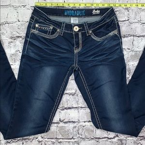 Hydraulic boot cut jeans